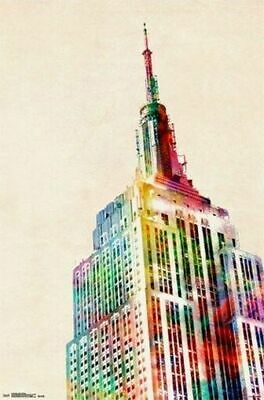 246362 NY EMPIRE STATE BUILDING Amazing York Art WALL PRINT POSTER AU