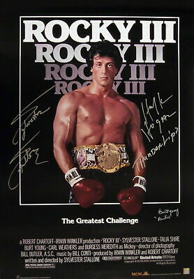 247920 Rocky IV Movie Sylvester Stallone Signature Art WALL PRINT POSTER AU