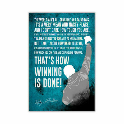 248220 Famous Rocky Balboa Movie Quote Art WALL PRINT POSTER AU