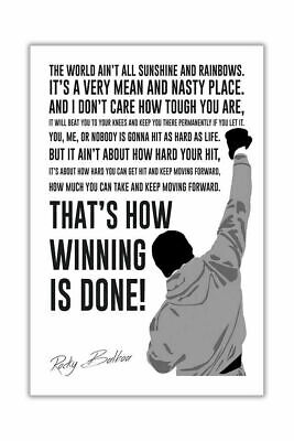 248214 Famous Movie Quote By Rocky Balboa Art WALL PRINT POSTER AU