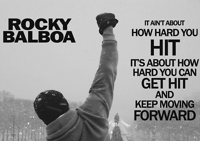 249251 ROCKY BALBOA FAMOUS MOVIE QUOTE Art WALL PRINT POSTER AU