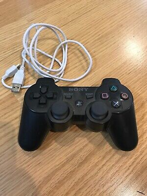 Sony PlayStation Dualshock 3 Black PS3 Controller *GREAT!*