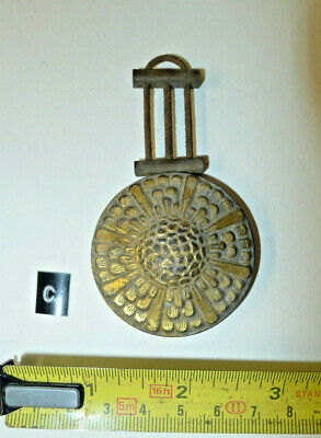 c) MANTEL clock pendulum chiming/striking Original Vintage brass faced bob