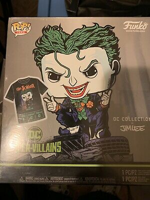 Funko POP! Tees Lager The Joker (Hush) #240 Exclusive DC Collection Jim Lee Set