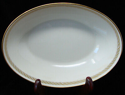 "Lenox Caribbee Oval 9 1/2"" Vegetable Serving Bowl Gold Rimmed"