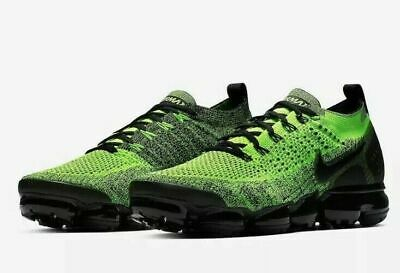 Nike Air Vapormax Flyknit 2 Running Shoes Volt Black 942842-701 Men's NEW