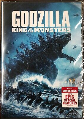 GODZILLA KING OF THE MONSTERS (DVD, 2019) 2-Disc Set Brand New Sealed Free Ship