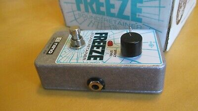 Electro-Harmonix Freeze Sound Retainer Guitar Effects Pedal Drone Sine WITH BOX