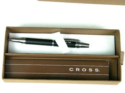 Delta Air Lines CROSS Stylo Bille Ball Point Pen Blue Ink New in Original Box