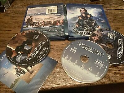 Rogue One: A Star Wars Story (Blu-ray/DVD, 2017, 3-Disc USED JEDI EMPIRE FUN