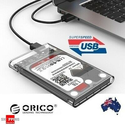 "ORICO 2139U3 Clear Tool-free USB 3.0 External 2.5"" SSD SATA HDD Enclosure Case"