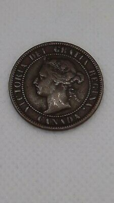 1900 Canada Large One Cent Fine Very Fine Low Mintage