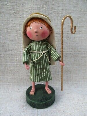 "Rare~ESC Lori Mitchell Folk Art Christmas ""SHEPHERD"" Figure"
