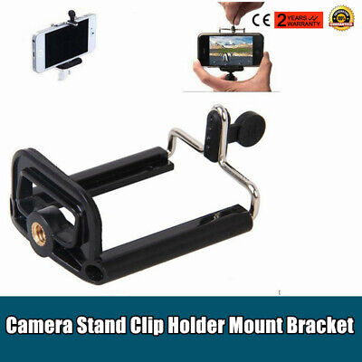 1pc Universal Mobile Phone Camera Stand Clip Holder Mount Bracket Adapter Tripod