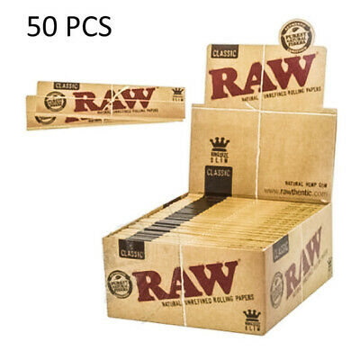 New Classic King Size Slim 50 Packs/32 Per Pack)Box Rolling Papers (Full Box)