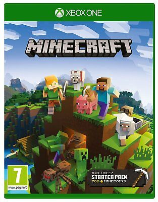 Minecraft Bedrock Starter Collection Microsoft Xbox One Game - 7+ Years