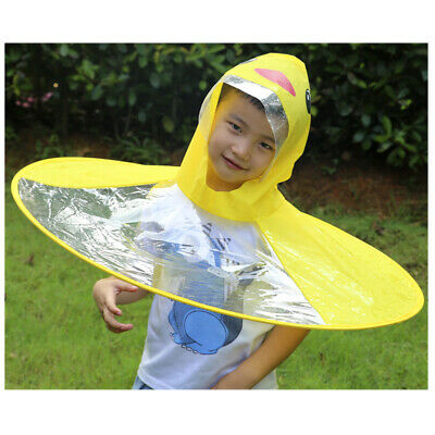 Baby Boys Girls Kids Children Duck Raincoat Umbrella Coat Cloak Hooded Raincoat
