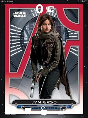 Topps Star Wars Card Trader 2019 Galactic Files Red 3 Card Lot Jyn Erso 100 CC
