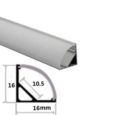 U-shaped aluminum alloy led long lamp Groove clothing cabinet embedded PC cover