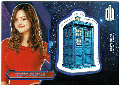 Doctor Who Topps 2015 Tardis Patch Card PURPLE Parallel Clara Oswald #37/99