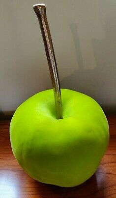Bright Green  Flock Large Apple Table Decor Flock Finish is Slight Faulty