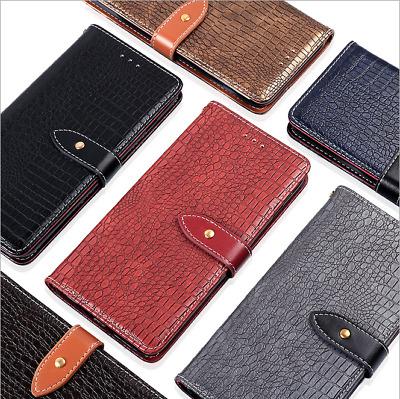 For Samsung A70 A60 M30 Crocodile Design Premium Leather Case Wallet Phone Cover