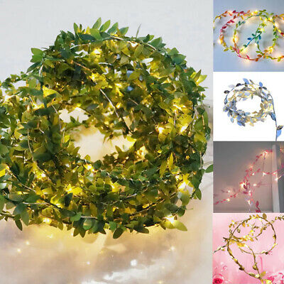 Battery Powered String Fairy Lights Artificial Leaves Light Christmas Decoration