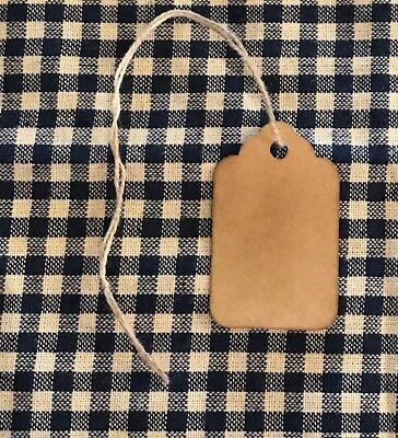 25 Small MERRY CHRISTMAS Primitive Coffee Stained Gift Hang Tags Lot farmhouse
