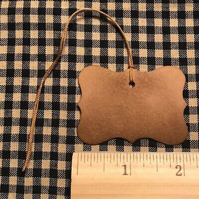 100 Primitive Coffee Stained FANCY EDGES RECTANGLE wedding gift Hang Tags Price