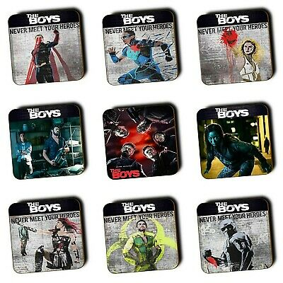 The Boys TV Show - Coasters - set of 10 - Wood Coasters - Super Heroes - Gifts