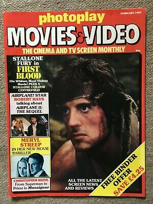 PHOTOPLAY - Stallone, First Blood - February 1983 Magazine