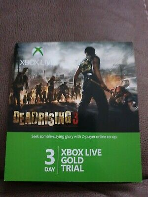 Xbox Live Gold 3 Day Trial Code