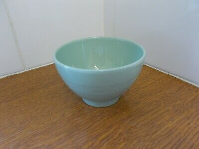 Vintage Green Sugar Bowl Woods Ware Beryl