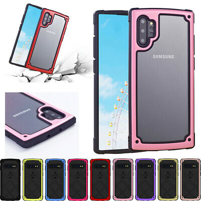 For Samsung S10E NOTE 8 9 10 Plus Shockproof Hybrid Armor Rugged Soft Case Cover