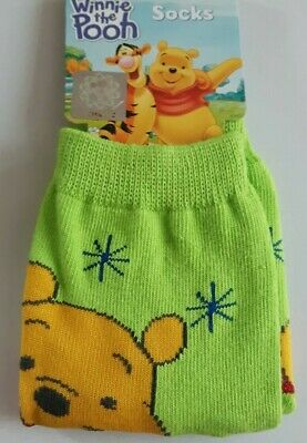 Disney Winnie the Pooh toddler socks boy girl UK size 3-5.5 (Eur 21-23) green