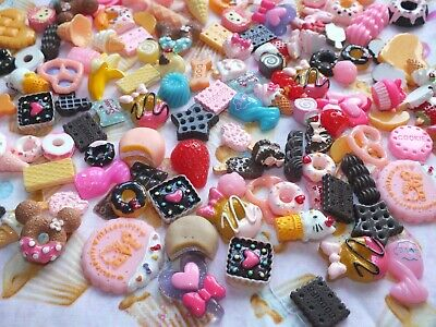 Mix Fake Food Sweets Cakes Lollipop Ice cream Cookies Muffins Cabochon U CHOOSE