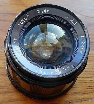 VINTAGE SOLIGOR 28mm f2.8 AUTO WIDE PRIME NIKON MOUNT