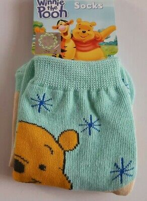Disney Winnie the Pooh toddler socks boy girl UK size 3-5.5 (Eur 21-23)