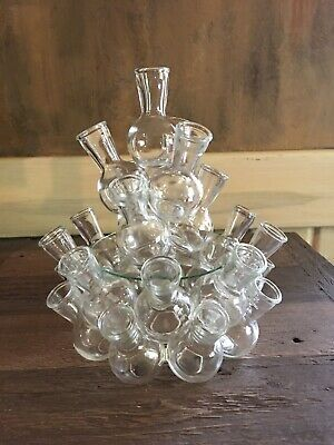 Vintage 2-pc. Clustered Glass Bud Vases/Floral Arranger