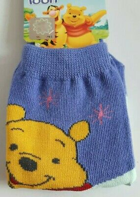 Disney Winnie the Pooh junior socks boy girl UK size 6-8.5 (Eur 24-26) purple