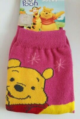 Disney Winnie the Pooh toddler socks boy girl UK size 3-5.5 (Eur 21-23) pink