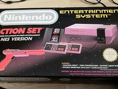 Nintendo Entertainment System Action Set Grey Console with games and accessories