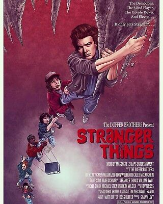 stranger things / goonies poster limited edition not mondo