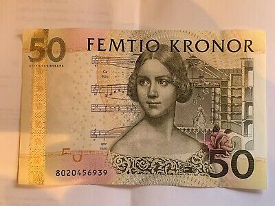 50 Swedish Kronor banknote (Jenny Lind) Old Currency