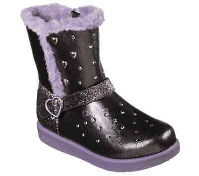 New Girl's SKECHERS Boots Lights Twinkle Toes: Glitzy Glam - Sparkle Hearts