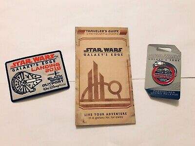 NEW 2019 Disney World Star Wars Galaxy's Edge Passholder Pin, Guide and Patch