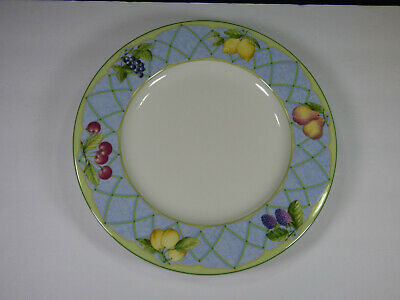 """Set(S) Of 4 - Mikasa Fruit Rapture 10-7/8"""" Dinner Plates - Excellent Used"""