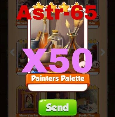 Coin Master Cards 50x Painters Palette Fast Delivery