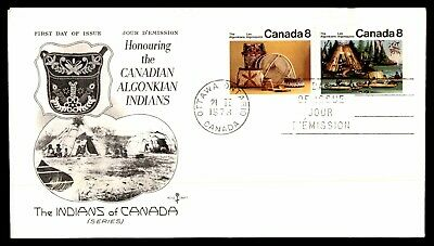 Canada FDC 1973 Canadian Algonkian Indians Rose Craft First Day cover wwa_88992