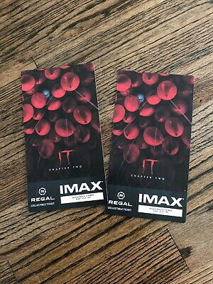 IT Chapter 2 IMAX Regal Collectible Ticket X 2 Plus FREE SHIPPING